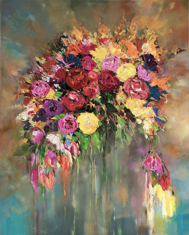 'Midsummer Bouquet' Oil Painting on Canvas
