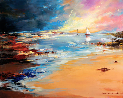 'Coastal View' Original Oil Painting on Canvas