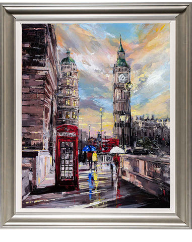 'Westminster Glow' Framed Oil Painting