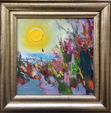 'Autumn Beach' Oil Painting On Canvas Framed Ready to Hang