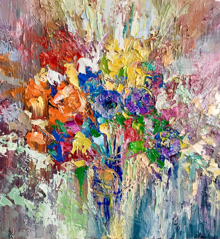'Spring Calling' Oil Painting on Canvas Ready to Hang - Eva Czarniecka Art