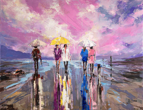 'The Sunset Rain' Limited Edition Hand Embellished Canvas Print