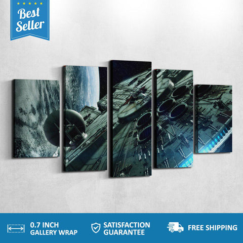 MILLENNIUM FALCON 5 PANEL CANVAS *Limited Edition*