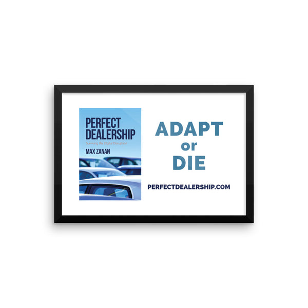 Perfect Dealership Framed Poster