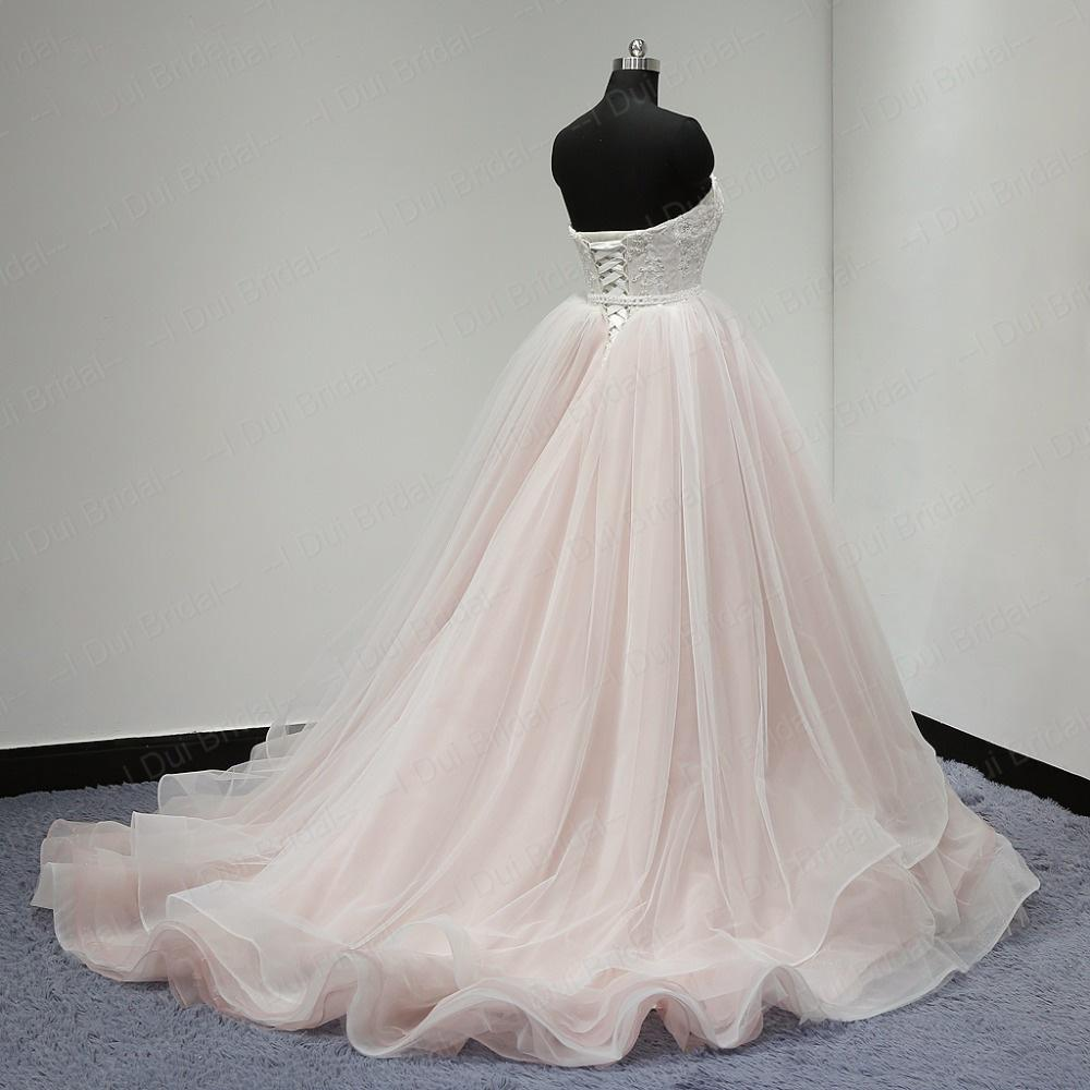 Sweetheart Lace Up Back Charming Affordable Long Pearl Pink Prom Dresses Ball Gown OK624