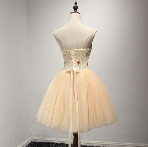 A-Line Sweetheart Homecoming Dresses,Tulle Short Ball Gown Prom ...
