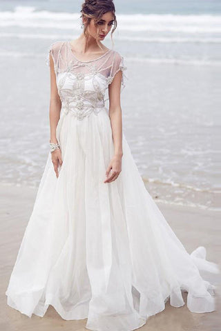 2017 Wedding Dress,Beading Wedding Dresses,Chiffon Wedding Dress,Long Wedding Dresses,Beach Wedding Dress,Coast Wedding Dresses,Sexy Wedding Dresses,Ivory Wedding Gown,Backless Wedding Dress