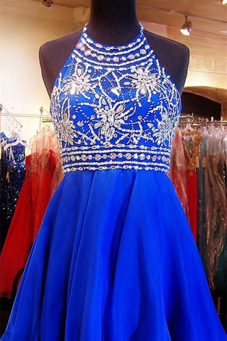 Royal Blue Homecoming Dress,Sparkle Homecoming Dresses,Beautiful Homecoming Gowns,Fashion Prom Gowns,Beaded Sweet 16 Dress,Homecoming Dresses,Cocktail Dresses