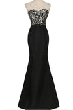 Mermaid Long Black Floor Length Sweetheart Simple Women Dress Prom Dresses K743