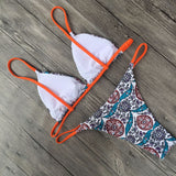 Women Printed Floral Bikini Set Swimwear Swimsuit Bathing Suit B0013