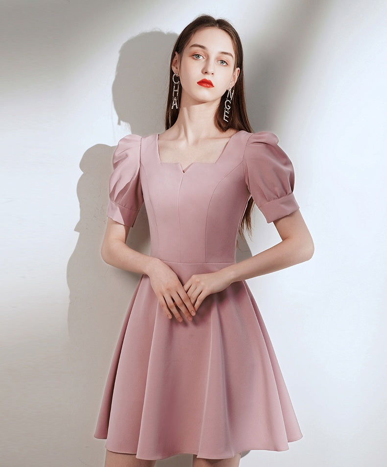 Simple Style Vintage Short Zipper Back Homecoming Dresses Cute Dress K0927