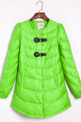 Outdoor Down Wear Simple Cheap Green Women Warm Down Jackets D13