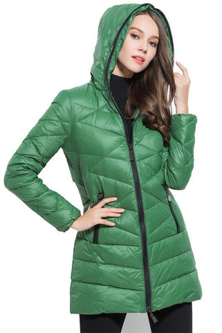 Women's Europe Style Light-Thin Winter Warm Long Coat Down Jackets D3