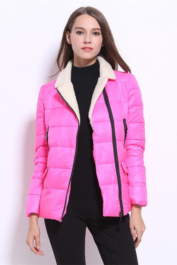 Outdoor Sports Winter Warm Coat Candy Colors Down Jackets D4