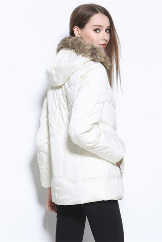 America Style Plus Size Winter White Down Coat Down Jackets D8