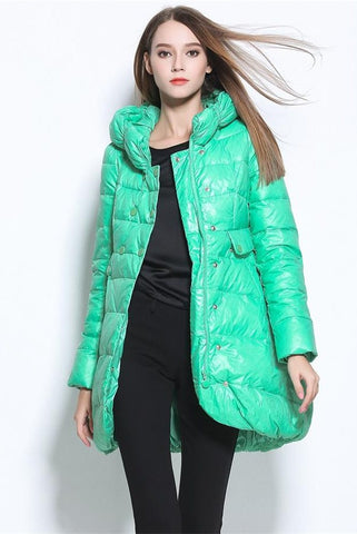 New Arrival Beautiful Women's Clothes Cute Long Style Thickening Women Model Down Jackets D9