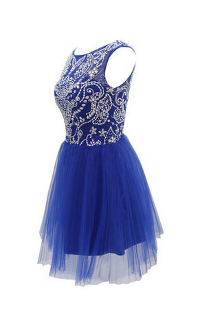 Short Beaded Prom Dress,Homecoming Dress,Cocktail Dress ED0650