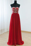 Empire Waist Red Backless Sexy Long Prom Evening Dress ED0876