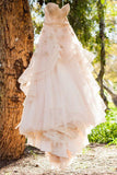 Beautiful A Line Sweetheart Flower Chic Bridal Gown, Princess Wedding Dress OKE34