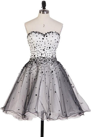 Classy Pretty Sweetheart Short Beading Cute Homecoming Dresses K155