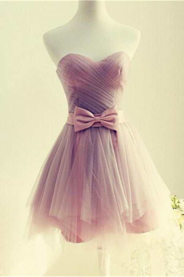 Elegant Sweetheart Cute Short Tulle Homecoming Dresses For Girls K159