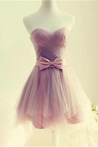 f2d062173c2 Elegant Sweetheart Cute Short Tulle Homecoming Dresses For Girls K159