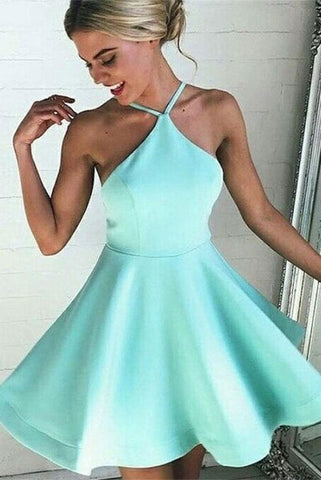 Charming Mint Simple Short Cheap Handmade Homecoming Dresses K191