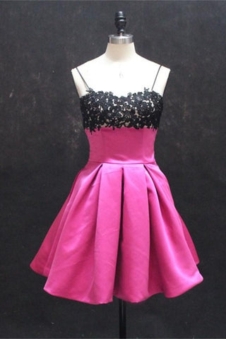 Cute Girly Spaghetti Strapless Short Classy Homecoming Dresses K253