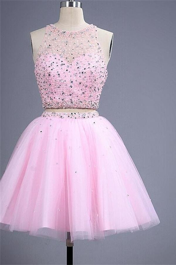Pretty Pink Cute Girly Dresses Homecoming Dresses For Teens K266