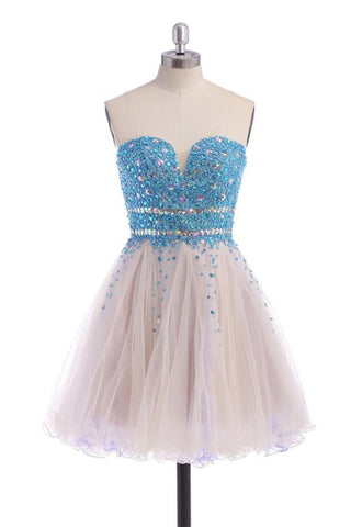 Elegant Beading Strapless Homecoming Dresses Cocktail Dresses Graduation Dresses K281