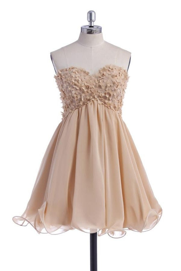 Short Sweetheart Pretty Cute Chiffon Homecoming Dresses K293