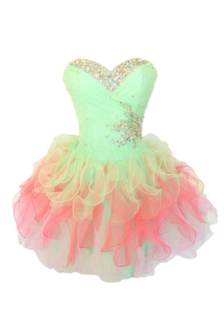 Colorful Short Ball Gowns Cute Girly Homecoming Dresses K296