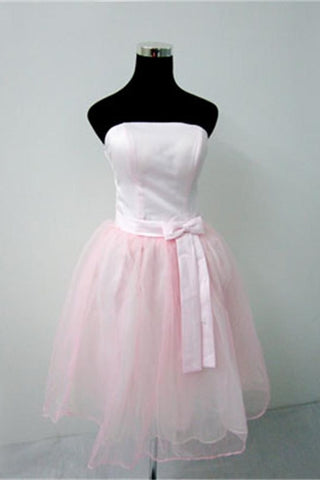 Pink Simple High Quality Short Classy Charming Homecoming Dresses K307