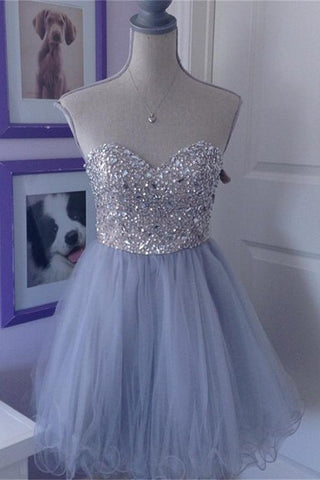 Baby Blue Sweetheart Pretty Cute Girly Homecoming Dresses K373
