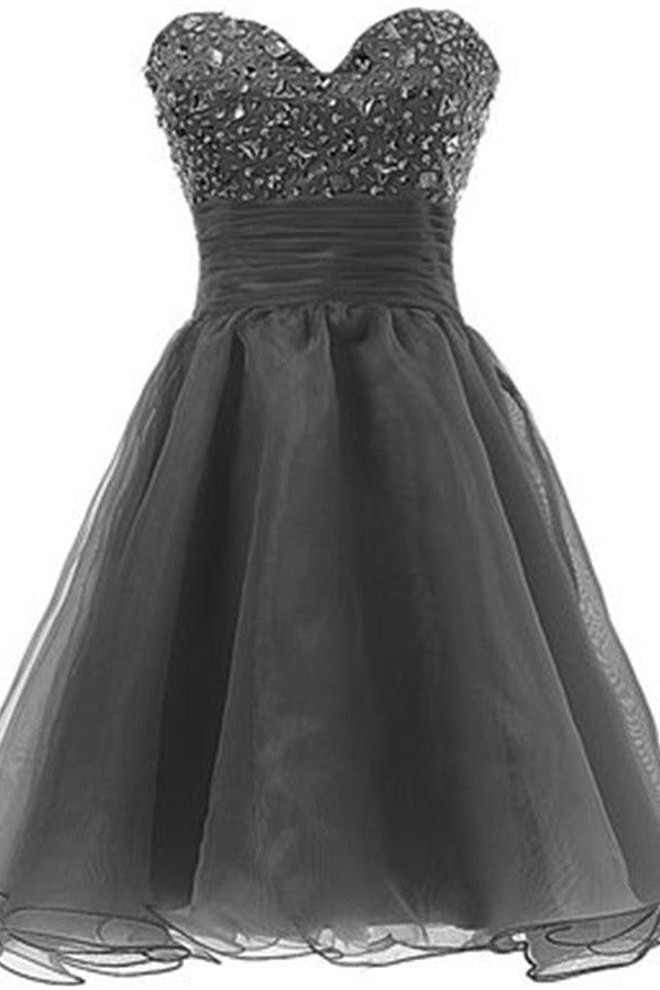 Grey Sweetheart Pretty High Low Homecoming Dress Cocktail Dresses K389