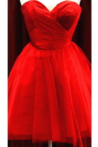 Light Red Simple High Quality Short Sweetheart Homecoming Dresses Bridesmaid Dresses K399