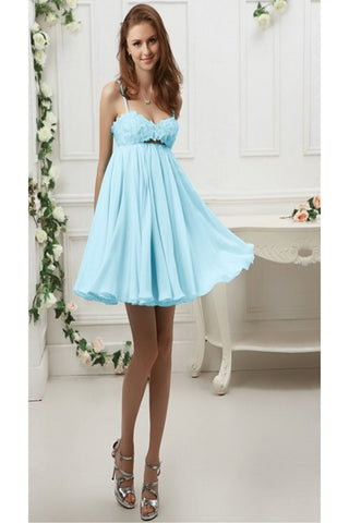 Pretty Spaghetti Straps Cute Simple Cheap Backless Homecoming Dresses K50