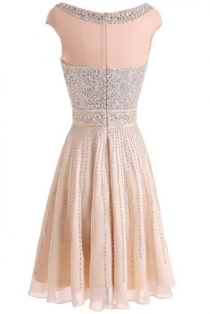 Real Beautiful Short Beading Modest Cocktail Homecoming Dresses K62