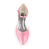 Pink Prom Shoes with Beads, Fashion Low Heels Woman Party Shoes L-925