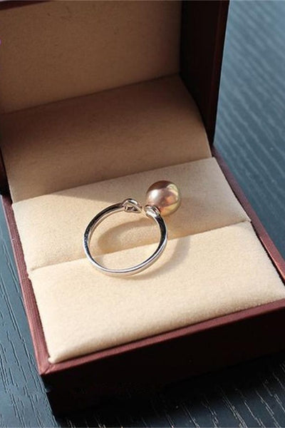 Freshwater Rare Color Pearl Ring with Adjustable S925 Silver Band P19
