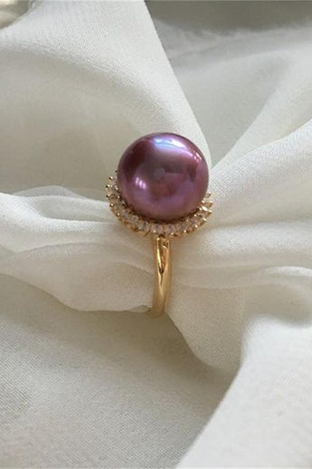 Beautiful Handmade High Quality Wedding Pearl Ring  P20