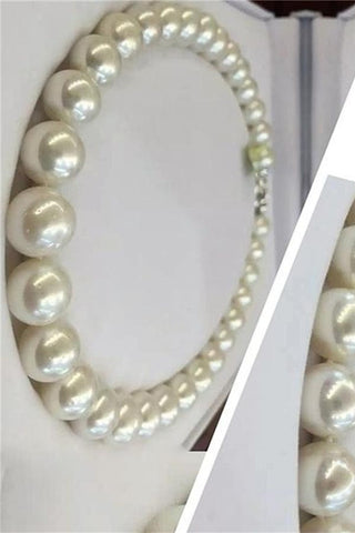 Classy Beautiful Handmade Pretty Round Pearl Necklace P28