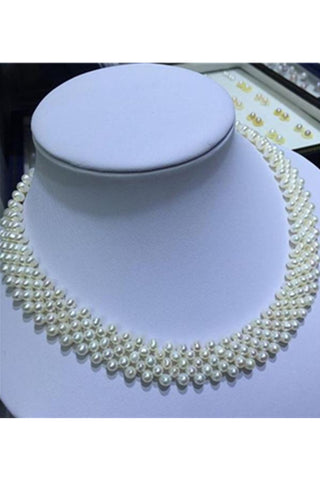 Elegant DIY Pearl Braided Wedding Necklace with S925 Silver Clip P29