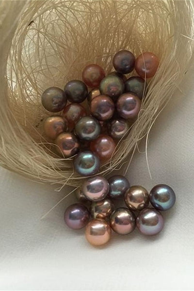 Beautiful Various Bright Round Fresh Water Real Loose Pearl P31