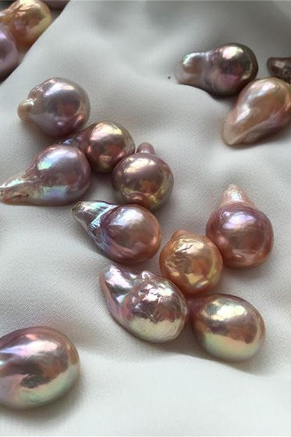 Pretty AAAA 14.5-17mm Multi-colored Baroque Loose Pearl P33