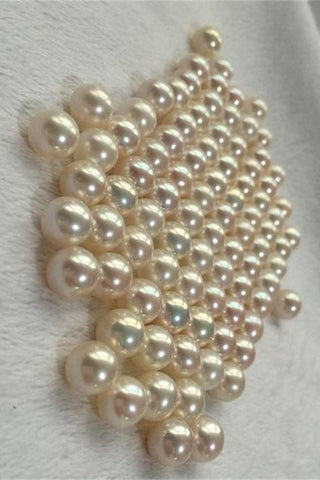 Beautiful Classy 8-9mm Round Freshwater Loose Pearl P36