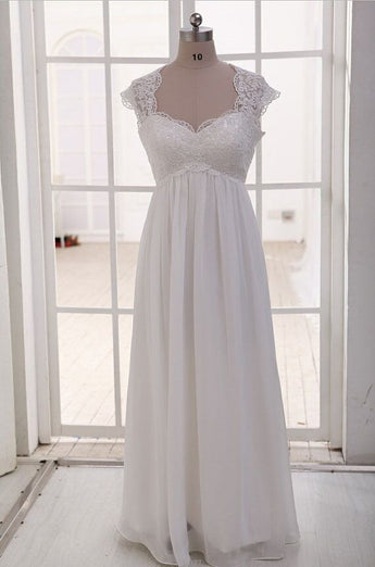 Empire See Through Sweetheart Maternity Bridal Wedding Gowns