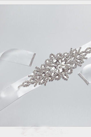 Handmade Rhinestones Wedding Belt Crystal Bride Sashes BS3