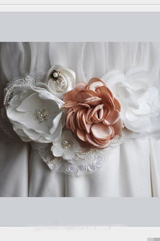 Flowers Wedding Sash Bridal Belt,Satin Ribbon Sash,Bridesmaid Sash/Belt BS7