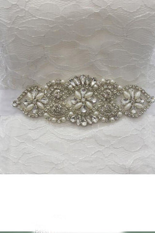 Beautiful Inspired Bridal Belt Pearl Rhinestone BS8